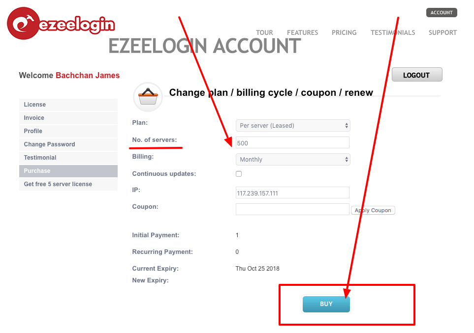 How to switch payment method from credit card to paypal and vice versa