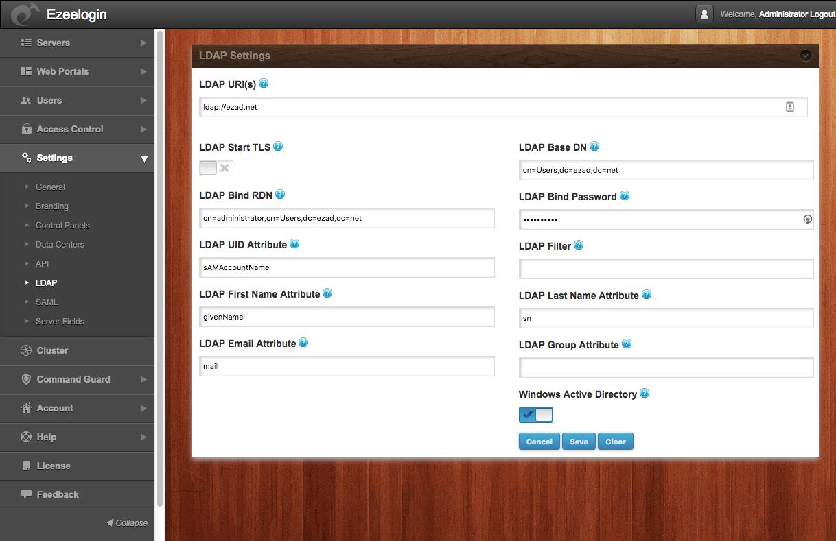 How do i configure Ezeelogin to authenticate using