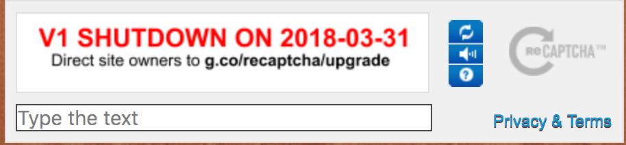 recaptcha shutdown