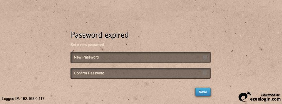 password expired