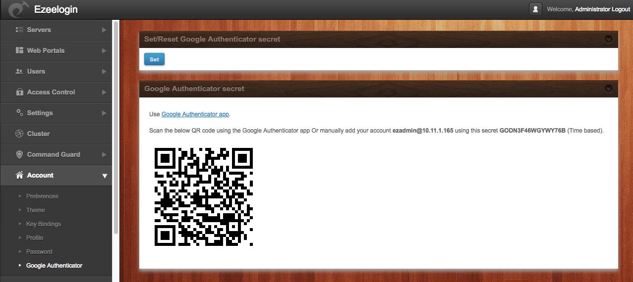 Google 2FA QR code