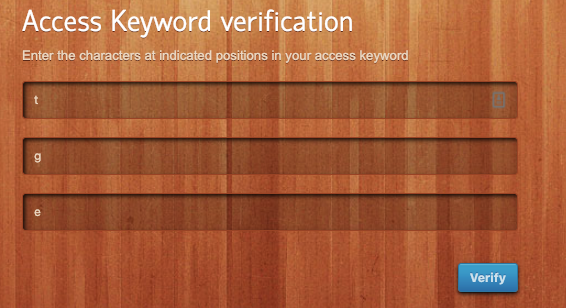 access-keyword 2FA