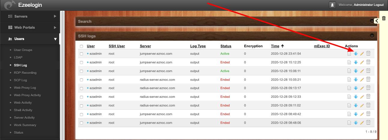 download-ssh-logs