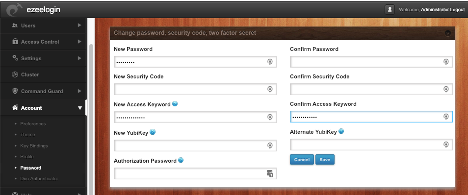 access keyword