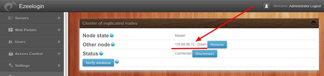 secondary node ip