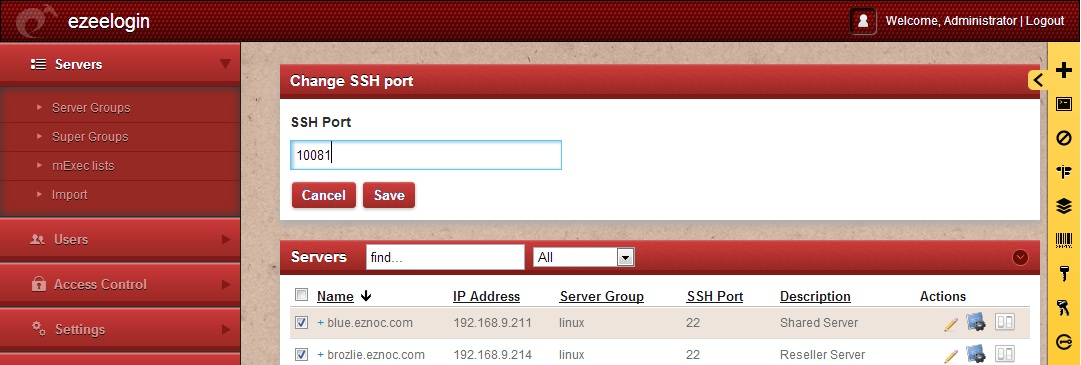 Change SSH Port